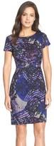 Ellen Tracy Print Ponte Sheath Dress (Regular & Petite)