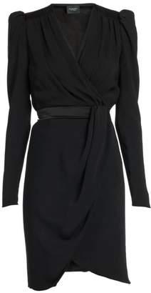 Giambattista Valli Wrapped Long-Sleeve Crepe Dress