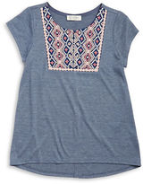 Jessica Simpson Girls 7-16 Embroidered Tee
