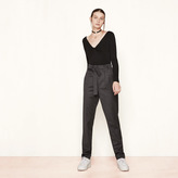 Maje Virgin wool high-waisted trousers