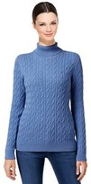 Charter Club Cable-knit Turtleneck Sweater.