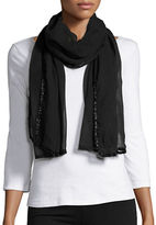 Collection 18 Sheer Embellished Scarf