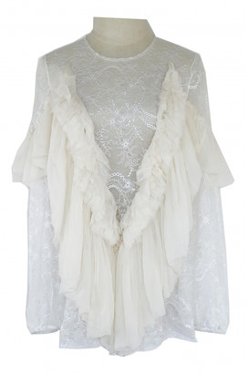 Givenchy White Lace Tops