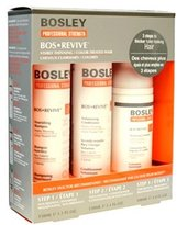 Bosley Pro Revive Starter Pack for Color-Treated Hair, 3 Count