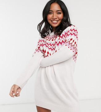 Asos DESIGN Petite embellished christmas jumper dress
