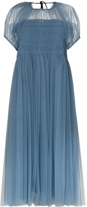 Molly Goddard 50th Billy puff-sleeve tulle dress
