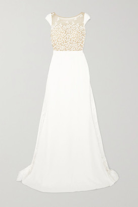 Rime Arodaky Alvin Embroidered Tulle And Crepe Gown - White