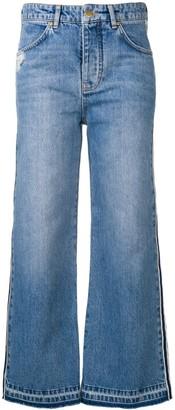 Victoria Victoria Beckham Striped Blue Jeans