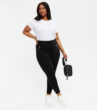 New Look Curves Ring Zip Leggings