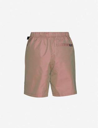 Stussy Iridescent high-rise woven shorts