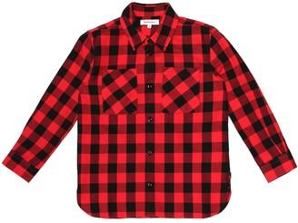 Woolrich Kids Check cotton shirt