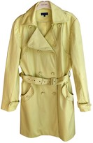 Adolfo Dominguez Green Cotton Trench Coat for Women
