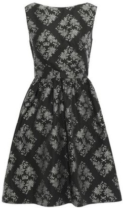 Erdem Gathered Printed Taffeta Mini Dress
