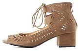 Charlotte Russe Laser Cut Lace-Up Sandals
