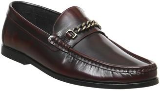 Office Miles Chain Loafers Bordo Hi Shine Leather