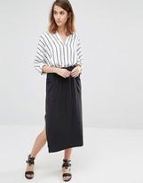 Warehouse Premium Fabric Tie Waist Skirt