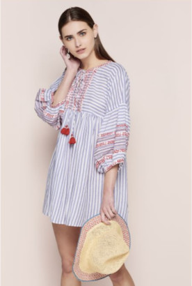 Dream Blue Striped Tunic W Sleeve - SMALL