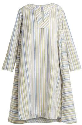 Thierry Colson Samie Striped Cotton Kaftan - Womens - Purple Multi