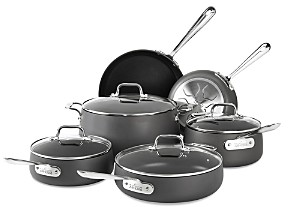 All-Clad Hard Anodized Nonstick 10-Piece Cookware Set