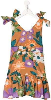 Little Bambah Floral-Print Ruffled Hem Dress