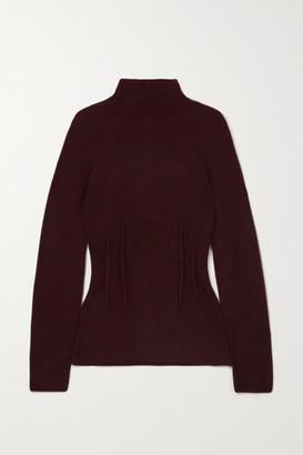 Altuzarra Loretta Ribbed Cashmere Turtleneck Sweater - Burgundy