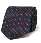 Drake's - 9cm Patterned Silk-failletie
