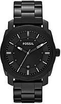 Fossil Machine Black 3 Hand Stainless Steel Bracelet Watch