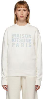 MAISON KITSUNÉ Off-White Hologram Logo Sweatshirt
