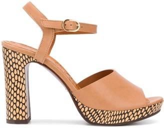 Chie Mihara Cassette printed heel sandals
