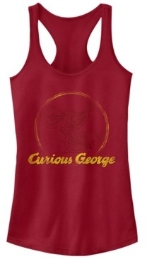 Fifth Sun Curious George Monkey on a Bike Sketch Ideal Racer Back Tank