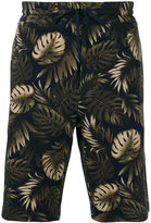 Vince leaves print sweatshorts - men - Cotton - S