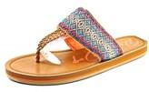 Rocket Dog Peaches Summer Women Open Toe Canvas Brown Thong Sandal.