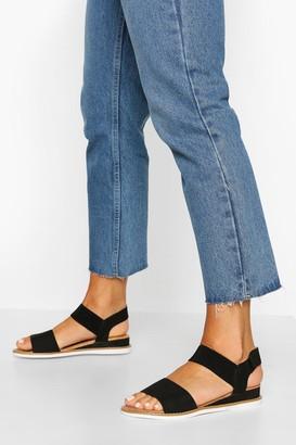 boohoo Elastic Strap Sandals