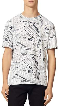 Sandro Newspaper Tee T-Shirt