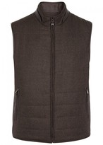 Corneliani Brown Reversible Wool Gilet
