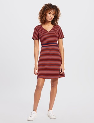 Draper James Stripe A line Ponte Dress