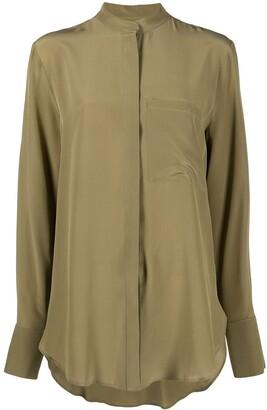 FEDERICA TOSI Mandarin collar silk shirt