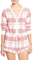 Wildfox Couture Pink Plaid Ye Rustic Romper