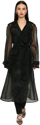 Dolce & Gabbana Double Breast Sheer Organza Trench Coat