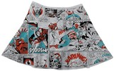 DC Comics Girls' Marvel Team Comic Strip Skirt - Gray