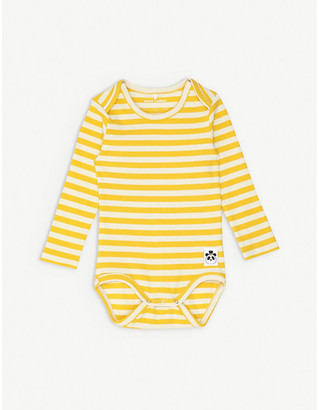 Mini Rodini Striped long-sleeved stretch-organic cotton bodysuit 1-18 months