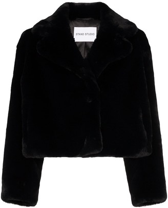 Stand Studio Janet cropped faux fur jacket