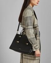 Ted Baker Adjustable Handle Large Leather Tote Bag
