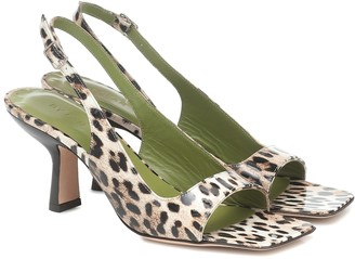 BY FAR Lopez leopard-print leather sandals