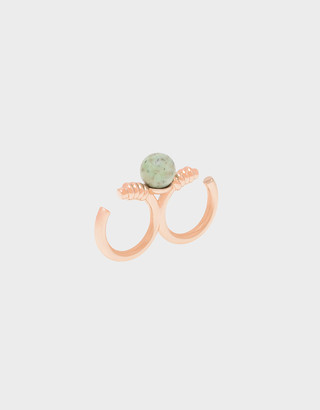 Charles & Keith Turquoise Stone Double Ring