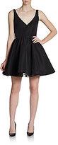 RED Valentino Faille V-Neck A-Line Dress