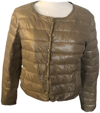 Bel Air Gold Leather Jacket for Women