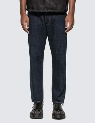 Prada Tiangle Logo Tapered Jeans