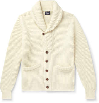 Drakes Drake's Slim-Fit Shawl-Collar Ribbed Lambswool Cardigan