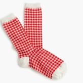 J.Crew Gingham trouser socks